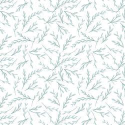 Ornamental in Celadon on White
