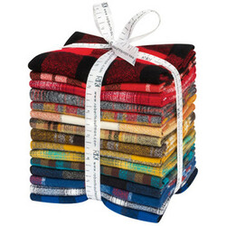 Mammoth Flannel Fat Quarter Bundle in Rainbow