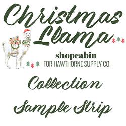 Christmas Llama Sample Strip