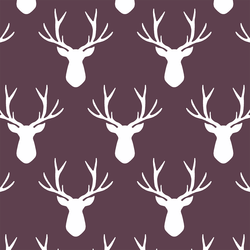 Stag Silhouette in Raisin