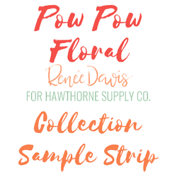 Pow Pow Floral Sample Strip