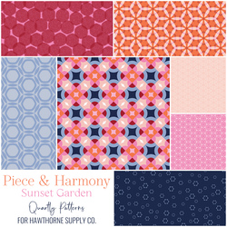 Piece and Harmony Fat Quarter Bundle in Sunset Garden