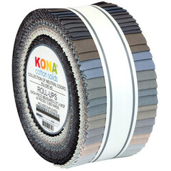 """Kona Solid 2.5"""" Strip Roll in Collection CF Neutral Coordinates"""