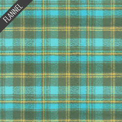 Mammoth Wide Small Tartan Plaid Flannel in Lagoon