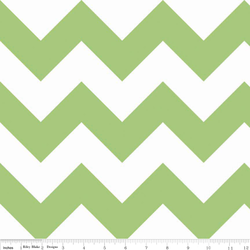 Large Chevron in Green