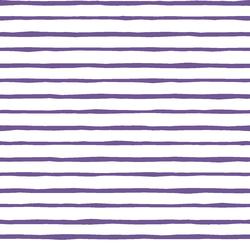 Artisan Stripe in Ultra Violet on White
