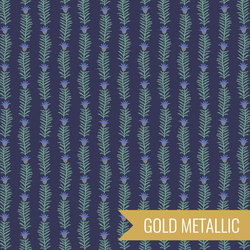 Rousseau Vine in Navy Metallic