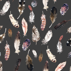 Falling Feathers in Onyx
