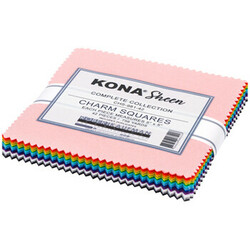 """Kona Sheen Solid 5"""" Square Pack"""
