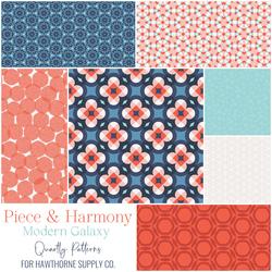 Piece and Harmony Fat Quarter Bundle in Modern Galaxy