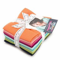 Bella Solids Designer Fat Quarter Bundle in V and Co.