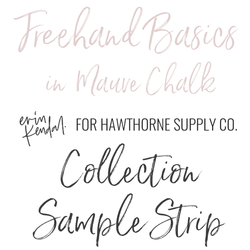 Freehand Basics Sample Strip in Mauve Chalk