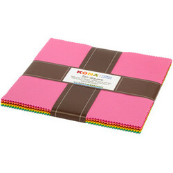 """Kona Solid 10"""" Square Pack in Library Coordinates"""