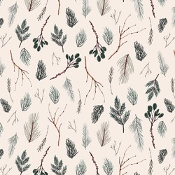 Twigs in Beige Multi