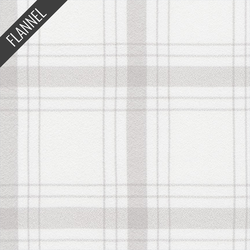 Mammoth Wide Modern Tartan Plaid Flannel in Bone