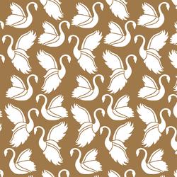 Swan Silhouette in Ochre