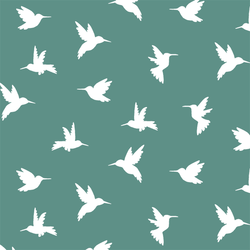 Hummingbird Silhouette in Agate