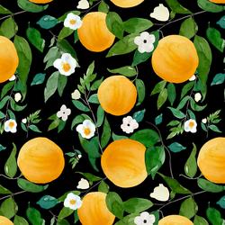 Large Oranges in Black