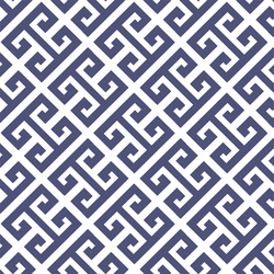 Greek Key in Indigo