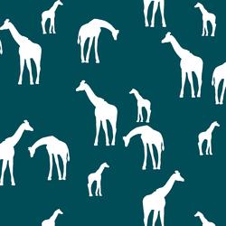 Giraffe Silhouette in Juniper