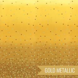 Ombre Confetti Metallic in Mustard