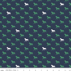 Horses Knit in Navy