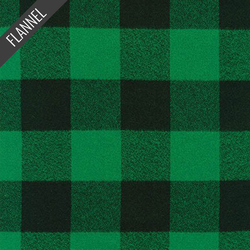 Mammoth Large Two Check Plaid Flannel in Green