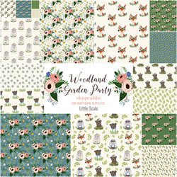 Woodland Garden Party Fat Quarter Bundle in Little Scale