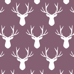 Stag Silhouette in Mulberry