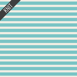 Striped Alike Knit in Aqua