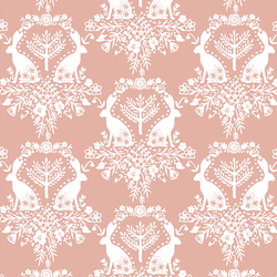 Cottontail Damask in Quartz