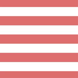 Horizontal Play Stripe in Poppy