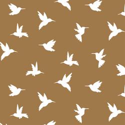 Hummingbird Silhouette in Ochre