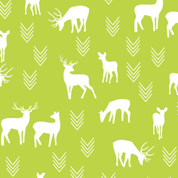 Deer Silhouette in Lime