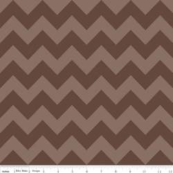 Medium Chevron Tone on Tone in Brown