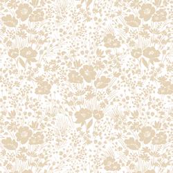 Prairie Silhouette in Soft Oatmeal on White