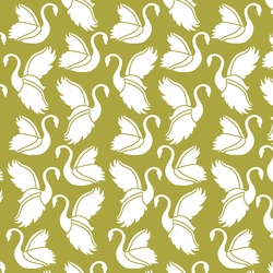 Swan Silhouette in Zest