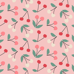 Cherries in Bubblegum Pink