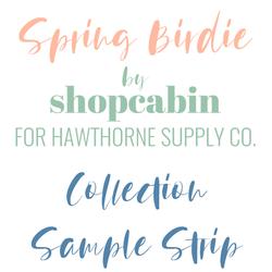 Spring Birdie Sample Strip