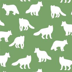 Fox Silhouette in Pistachio