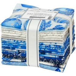 Holiday Flourish 15 Fat Quarter Bundle in Blue Colorstory
