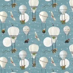 Christmas Balloon Ride in Winter Twilight