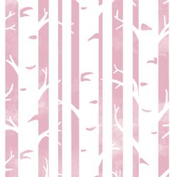 Big Birches in Carnation