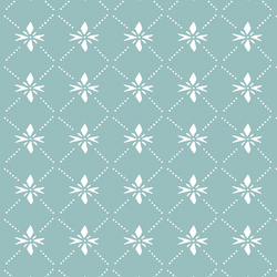 Quilted Snowflake in Frosty Teal