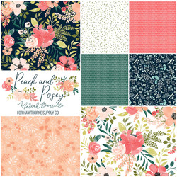 Peach and Posey Fat Quarter Bundle in Blooming Garden