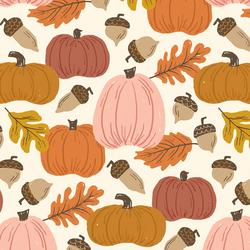 Large Autumn Harvest in Pumpkin Patch