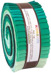 "Kona Solid 2.5"" Strip Roll in Lush Lagoon"