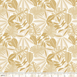 Tropical Foliage in Gold