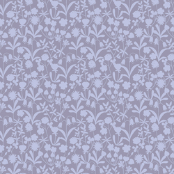 Floral Silhouette in Lavender