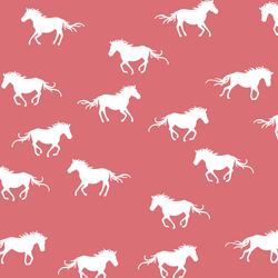 Horse Silhouette in Dahlia